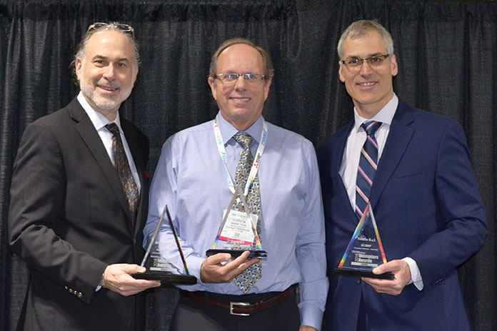 Alan Bergstein : Group Publisher, PennWell Steve Ferrell : Director Business Development, Americas, Lakesight John Lewis : Editor in Chief, Vision Systems Design at the Vision Systems Design Awards ceremony